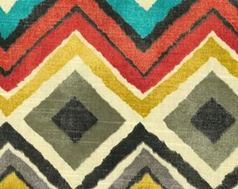 "INDOOR 1 Pair Custom Either Flat Rod Pocket OR Grommet Curtain Panel Drapes in HGTV Home Upholstery Fabric Like A Diamond Fog 50""W x Length"