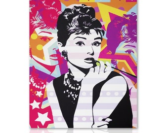 Modern painting Audrey Hepburn - Ready to Hang
