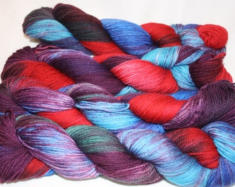 Superwash Hand Dyed Sock Yarn:  I put a spell on you