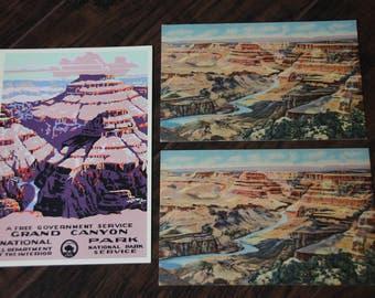 Vintage Grand Canyon National Park Postcard Collection