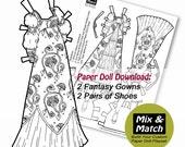 Paper Doll Princess Dress...