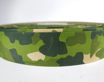 "5 yards of 1 inch ""Camouflage"" grosgrain ribbon"