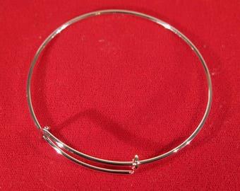 BULK! 15pc 70mm antique silver bangle bracelet (JC146B)