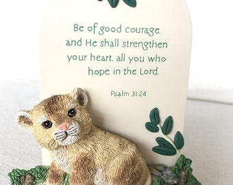 Impossible to find Roman Inc. Lion Cub bible plaque