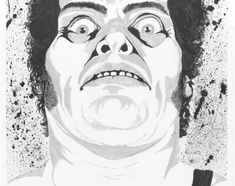 Andre the Giant 9x12 ink drawing