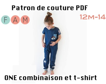 PDF Pattern of ONE Romper 12m-14