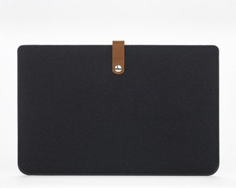 MacBook Air 11 Cover - MacBook Air 11 Case - MacBook Air Sleeve - MacBook Air 11 - Back Felt Leather Case - Apple Laptop 11 Sleeve