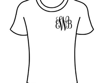 Small side monogram shirt