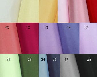 Korean Traditional Solid Silk 100% Fabric 'Myeong ju' for Pojagi Hanbok Korean traditional dress