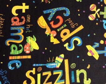 One, One Yard and 21 Inches of Fabric Material - Fiesta