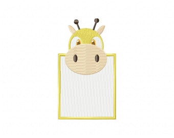 Giraffe Head Note Machine Embroidery Design