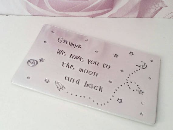 Hand Stamped Wallet Insert Kids font childs handwriting