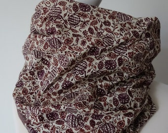 Garabatos Reversible Cowl twisted. made with Liberty of London. Free delivery in the UK.