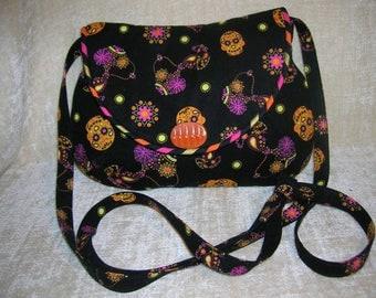 """Dia de Los Muertos shoulder strap purse - """"Sara"""" - larger version of the Sarica"""