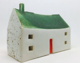 Ceramic House with Green Roof