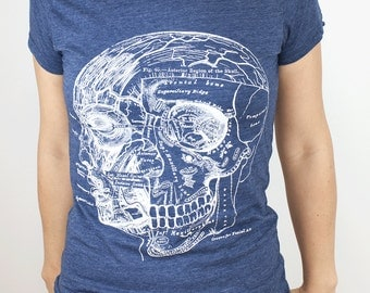 Anatomy of the Skull & Head T-shirt | Anatomical, Nursing, Nurse, Science tee, Science gift, gift for her, doctor gift, gift for him