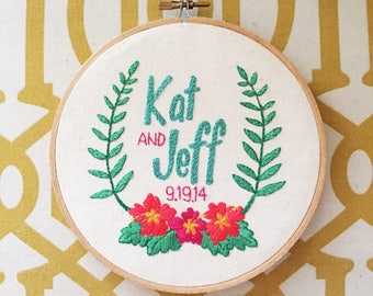 Tropicana Wedding Embroidery Hoop