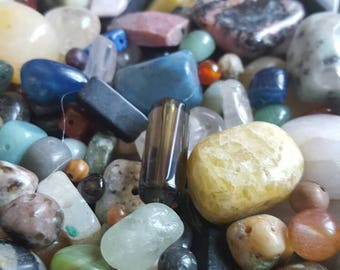 Over 1 pound 800 of Semi Precious Stone Beads FREE SHIPPING