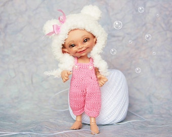 """Realpuki Knitted outfit """"Pink Bear"""""""