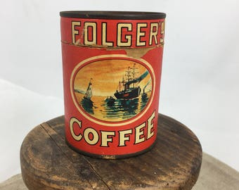 Vintage advertising Folger's Coffee puzzle~1950s promotion give away~vintage kitchen decor collectible from MilkweedVintageHome