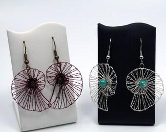 Filigree Spiral as earrings, earrings, bobbin jewelry, wire earrings, wire snail, gift, handmade jewelry