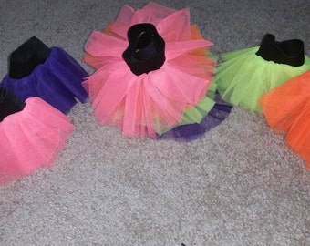 Neon Wristband UV Hand Cuff Tutu For Dance Party Ruffled Tulle adult Christmas