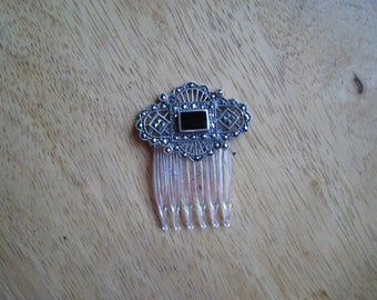 sterling silver hair comb