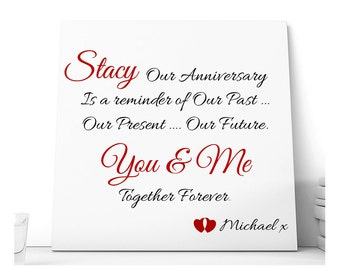 Personalised Our Anniversary Ceramic Plaque.