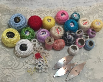 Vintage Collection of Tatting Crochet Thread Tools