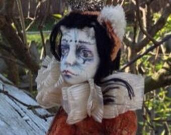 "Paperclay art doll ""Rex"""