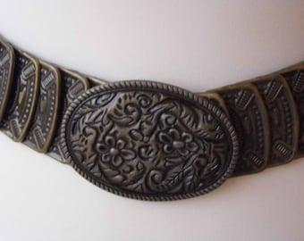 1970s Metal stretch belt waist 28-32