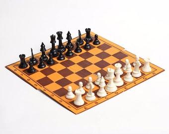 Vintage chess set in original box, Vintage Medium Chessboard, Chess Set Game, soviet chess, USSR games, travel chess, ussr board game