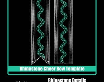 Cheer Bow - Rhinestone Transfer Template - Digital Download
