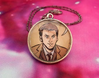 Tenth Doctor Who Pendant Necklace