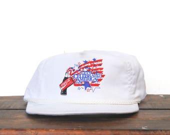 Vintage Let's Celebrate America 4th Of July USA Coke Coca Cola Soda Pop Trucker Hat Snapback Baseball Cap