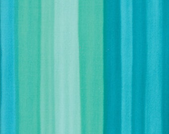 1/2 Yard - Spectrum Ombre - Stripes - Turquoise - V and Co - Vanessa Christenson - Moda Fabrics - Fabric Yardage - 10861-17