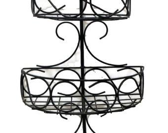Metalware Vintage Hanging 3-tier Storage Basket