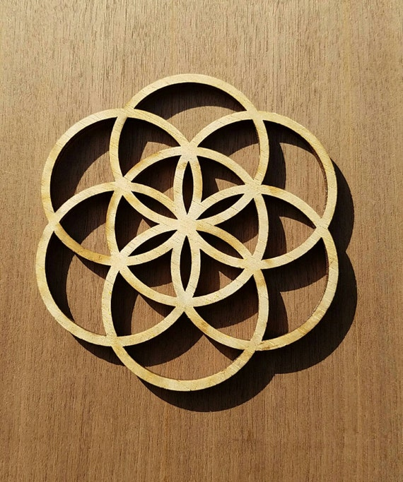 Mini Seed of Life Sustainable Wood Lasercut Wall Art