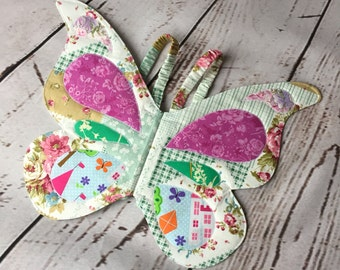 Handmade quilted cotton Butterfly wings - Fairy wings - Kids costume - Dress up - Pretend play - Photo prop - UK
