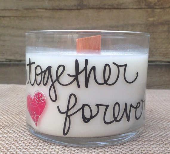 Valentine Gift Soy Candle with Wood Wick