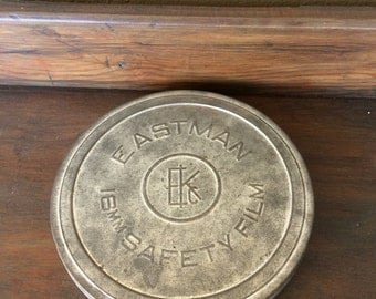 Eastman Kodak 16mm Film Can // Vintage Tin Film Cannister