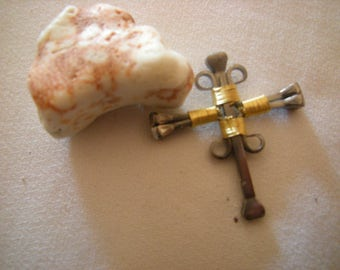 cross-pendant cross-hand made-square nails-religion-spirituality-gift-confirmation gift-