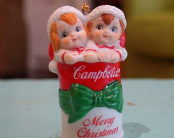 1992 Campbells Soup Kids In A Soup Can Christmas Ornament
