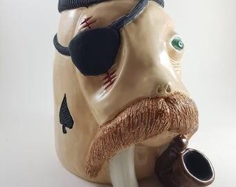Handmade tiki mug CAPTAIN for bars and personal use by j.d.art