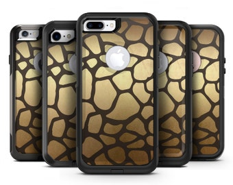 Dark Gold Flaked Animal v5 - OtterBox Case Skin-Kit for the iPhone, Galaxy & More
