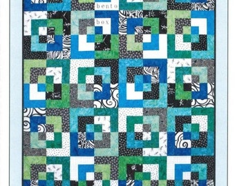 Pattern,Quilt Pattern~Bento Box Updated Quilt Pattern, Fat Quarter Friendly 12 Variations Fast Shipping Pt414
