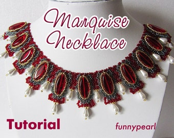 Necklace Marquise. Tutorial PDF