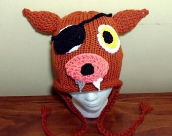 Crochet Foxy Hat, FNAF, Foxy Five Nights at Freddy's