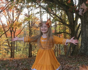 Fall Fun Double Boutique Bow~ made to match well dressed wolf gather dress, m2m well dressed wolf gather dress, m2m wdw gather dress
