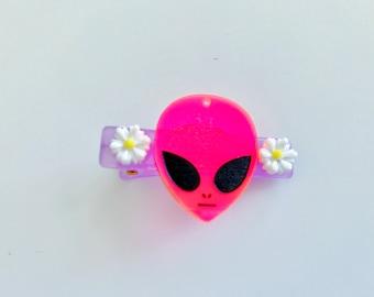 Pastel Kawaii Girly Alien Hair Clip